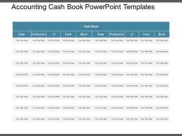 Accounting Cash Book Powerpoint Templates
