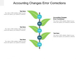 Accounting Changes Error Corrections Ppt Powerpoint Presentation Infographic Cpb