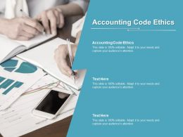 Accounting Code Ethics Ppt Powerpoint Presentation Gallery Summary Cpb