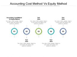Accounting Cost Method Vs Equity Method Ppt Powerpoint Presentation Portfolio Outline Cpb