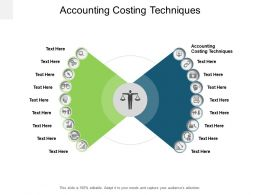 Accounting Costing Techniques Ppt Powerpoint Presentation Infographics Diagrams Cpb