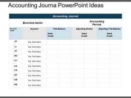Accounting Journal Powerpoint Ideas