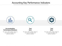 Accounting Key Performance Indicators Ppt Powerpoint Presentation Gallery Ideas Cpb