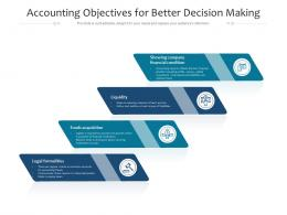 Accounting Objectives For Better Decision Making