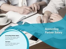 Accounting Partner Salary Ppt Powerpoint Presentation Pictures Deck Cpb
