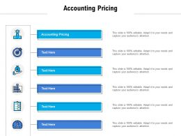 Accounting Pricing Ppt Powerpoint Presentation Show Icons Cpb