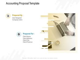 Accounting Proposal Template Slide Ppt Powerpoint Presentation Slides Template