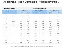 Accounting Report Distribution Product Revenue Expenses Customer Incomed
