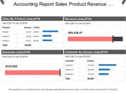 Accounting Report Sales Product Revenue Expenses Customer Incomed