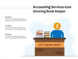 Accounting Services Icon Showing Book Keeper