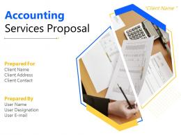Accounting Services Proposal Powerpoint Presentation Slides