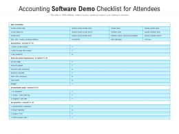 Accounting Software Demo Checklist For Attendees