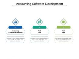 Accounting Software Development Ppt Powerpoint Presentation Show Brochure Cpb