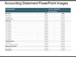 Accounting Statement Powerpoint Images