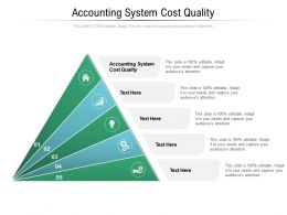 Accounting System Cost Quality Ppt Powerpoint Presentation Infographics Files Cpb