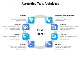 Accounting Tools Techniques Ppt Powerpoint Presentation File Background Cpb
