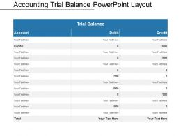 Accounting Trial Balance Powerpoint Layout