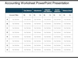 Accounting Worksheet Powerpoint Presentation