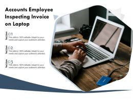 Accounts Employee Inspecting Invoice On Laptop