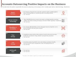 Accounts Outsourcing Positive Impacts On The Business Ppt File Topics