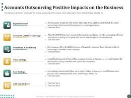 Accounts Outsourcing Positive Impacts On The Business Ppt Powerpoint Presentation Professional Guide