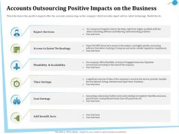 Accounts Outsourcing Positive Impacts On The Business Right Ppt Powerpoint Presentation File