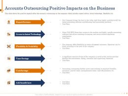 Accounts Outsourcing Positive Impacts On The Business Saved Powerpoint Presentation Maker