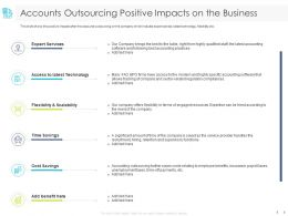 Accounts Outsourcing Positive Impacts On The Business Services Ppt Powerpoint Presentation File Grid