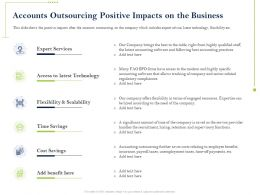 Accounts Outsourcing Positive Impacts On The Business Technology Ppt Powerpoint Guide