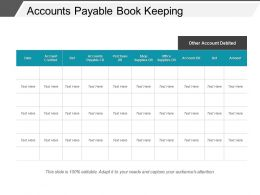 Accounts Payable Book Keeping Example Of Ppt
