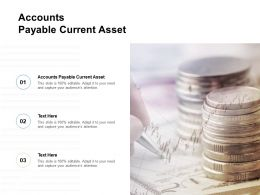 Accounts Payable Current Asset Ppt Powerpoint Presentation Ideas Background Cpb