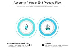 Accounts Payable End Process Flow Ppt Powerpoint Presentation Infographics Portfolio Cpb