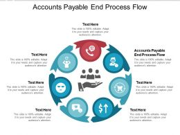 Accounts Payable End Process Flow Ppt Powerpoint Presentation Show Visual Cpb