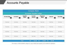 Accounts Payable Example Of Ppt Presentation
