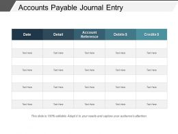 Accounts Payable Journal Entry Sample Of Ppt