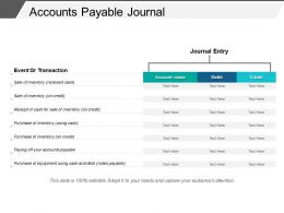 Accounts Payable Journal Good Ppt Example