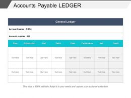 Accounts Payable Ledger Powerpoint Slide Background