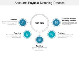 Accounts Payable Matching Process Ppt Powerpoint Presentation Portfolio Background Image Cpb