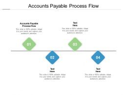 Accounts Payable Process Flow Ppt Powerpoint Presentation Gridlines Cpb