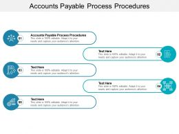 Accounts Payable Process Procedures Ppt Powerpoint Presentation Outline Graphics Tutorials Cpb