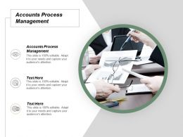 Accounts Process Management Ppt Powerpoint Presentation Ideas Slide Portrait Cpb
