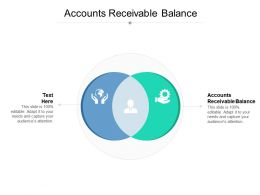 Accounts Receivable Balance Ppt Powerpoint Presentation Professional Aids Cpb