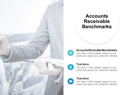 Accounts Receivable Benchmarks Ppt Powerpoint Presentation Professional File Cpb
