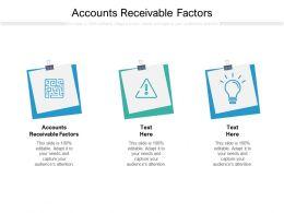 Accounts Receivable Factors Ppt Powerpoint Presentation Model Design Templates Cpb