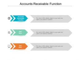 Accounts Receivable Function Ppt Powerpoint Presentation File Brochure Cpb