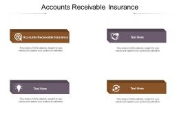 Accounts Receivable Insurance Ppt Powerpoint Presentation Infographics Themes Cpb