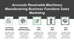 Accounts Receivable Machinery Manufacturing Business Functions Sales Marketing