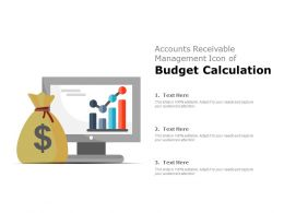 Accounts Receivable Management Icon Of Budget Calculation