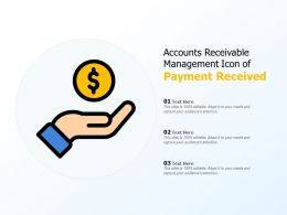 Accounts Receivable Management Icon Of Payment Received