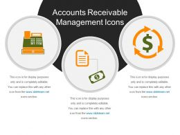 Accounts Receivable Management Icons